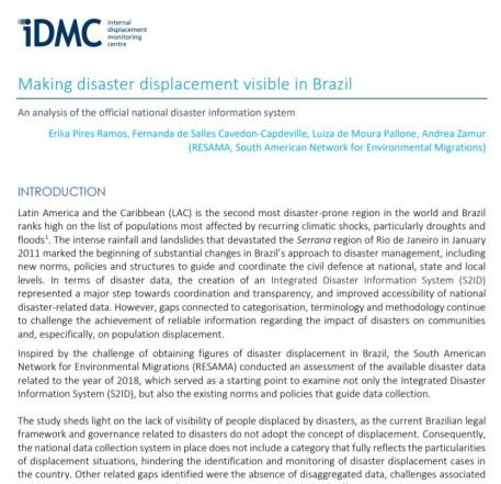 Image Report IDMC